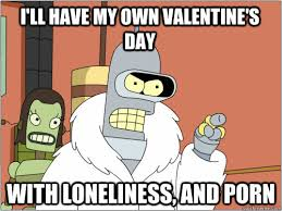 Anti Valentines Day Memes - i ll have my own valentine s day with loneliness and porn