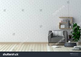 clean wall gray armchair front clean walls other stock illustration 666396463