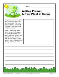 a new plant in spring writing prompt for 3rd 4th and 5th grade