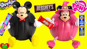 mickey mouse and minnie mouse halloween pumpkin surprises and