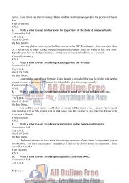 guess notes 9th class english letters and comprehensions all