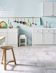 Stone Kitchen Flooring by Love These Big Square Grey Tiles For The Kitchen And Dining Area