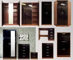 black gloss walnut bedroom furniture range wardrobe chest bedside