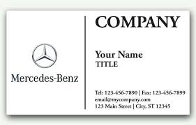 Sales Business Card Mercedes Benz Auto Sales Business Card With Logo