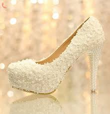 wedding shoes malaysia lace chunky heel closed toe with pearl wedding bridal shoes
