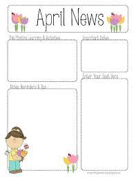 100 parent newsletter templates blue and white modern parent
