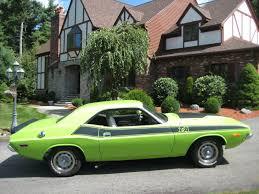 Dodge Challenger 1974 - 1974 dodge challenger 440 motor lime green muscle car