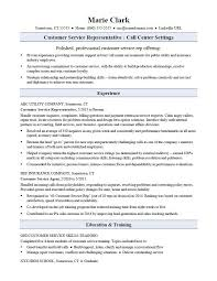customer service resume customer service representative resume sle