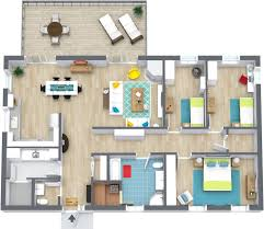 sophisticated floor plans for energetic people with three bedroom