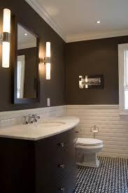 Chair Rail Ideas For Bathroom - toronto interior design group chocolate brown modern bathroom