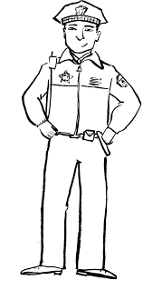 bold and modern police officer coloring page police officer