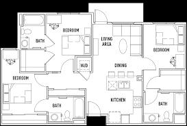 bedroom view 3 bedroom apartments in los angeles ca decor modern