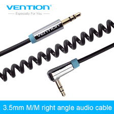 aliexpress buy hot gold plated 5mm 3 5mm tungsten vention gold plated audio cable right angle 90 degree 3 5mm aux