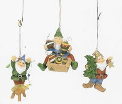 adorable gnomes tree ornaments set 3 home