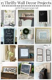 Thrifty Wall Decor Projects Girl In The Garage - Thrifty home decor
