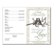 Printed Wedding Programs Wedding Program 6236 With Printing Pack Of 200 Wedding