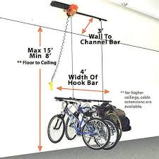 Bicycle Ceiling Hoist by Garage Gator Small Motorized Electric Bicycle Hoist Model Gg4125