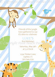 Gift Card Baby Shower Invitations Jungle Animal Baby Shower Invitations Baby Shower Invitations