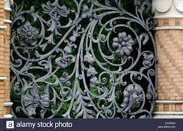ornate wrought iron fence to the grounds of the winter palace st
