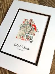 house warming wedding gift idea housewarming gift home map matted gift first home gift new house