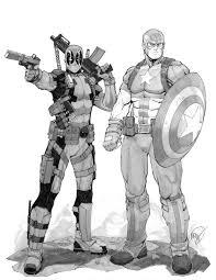 deadpool and captain america by max dunbar on deviantart