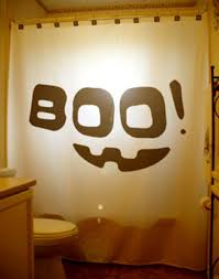 halloween bathroom boo shower curtain kids bath decor halloween