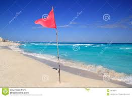 Beach Red Flag Dangerous Red Flag In Beach Rough Sea Signal Stock Image Image