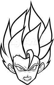 draw super saiyan easy step step dragon ball