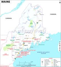 map of maine with cities maine map showing the major travel attractions including cities