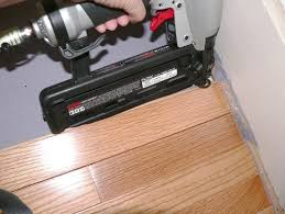 finish nailer to install hardwood