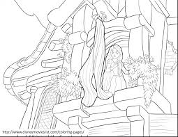 rapunzel coloring pages games tangled pdf tower flynn rider