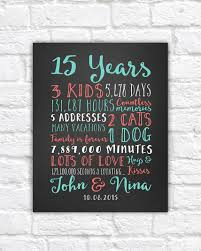 15 year anniversary ideas wedding anniversary gifts paper canvas 15 year anniversary
