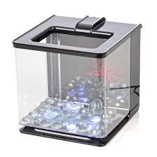 marina ez care betta aquarium kits with led lights betta