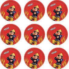 firefighter cupcake toppers 38 stand up fireman sam character edible wafer paper