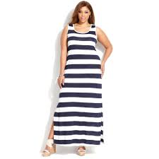 light blue and white striped maxi dress lyst inc international concepts plus size sleeveless striped maxi