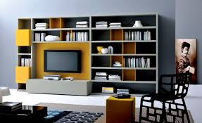 decorations modern wall units for bookshelf design idea with