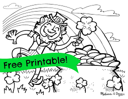 leprechaun coloring pages printable free 5 st patrick s day activities for kids a roundup saints