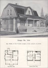Floor Plans For Barn Homes William A Radford 1908 House Plans Dutch Colonial Revival