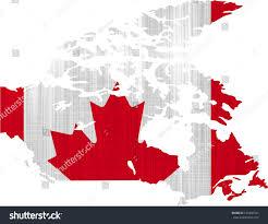 canada flag map on white background stock illustration 130296341