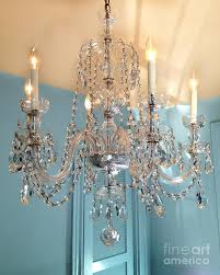 Shabby Chic White Chandelier Shabby Chic Cottage Sparkling White Crystal Chandelier Photo
