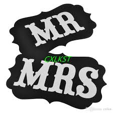 Mr And Mrs Wedding Signs Mr And Mrs Wedding Sign Black Vintage Wooden Signs Chair Backs