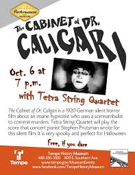 the cabinent of dr caligari with tetra string quartet tempe