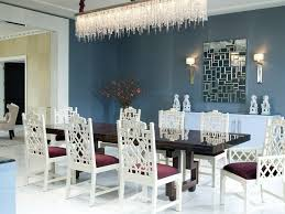 swarovski crystal chandelier dining room contemporary with buffet