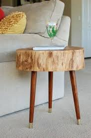 tree stump stool cut took bark sanded stained and sealed