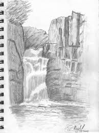 easy drawing in pencil of nature and cartoon beautiful pencil