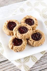 gluten free vegan raspberry thumbprint cookies sarah bakes