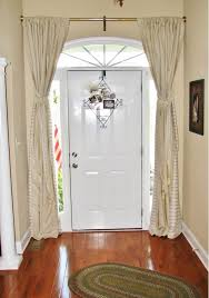 Curtains For Doors Adorable Door Window Panel Curtains Ideas With Front In Curtain
