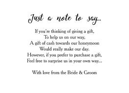 wedding gift list poems poems for wedding invites asking money 28 images wedding money