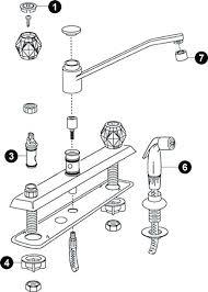 kitchen faucet repair kit moen 2 handle kitchen faucet repair clickcierge me