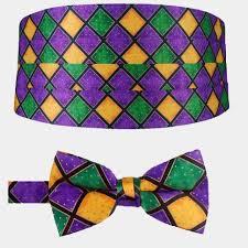 mardi gras tie mens mardi gras cummerbund and bow tie set
